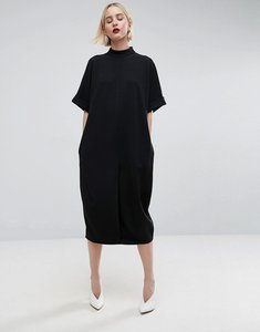 Read more about Asos white ovoid midi dress - black