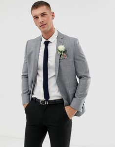 Read more about Harry brown winter wedding charcoal tonal skinny fit suit jacket - grey
