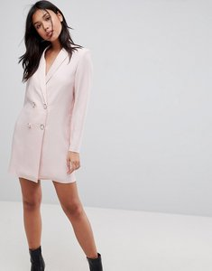 Read more about Asos ultimate tux blazer mini dress with pearl buttons - nude