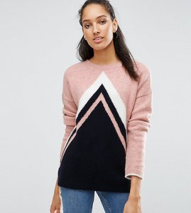 Read more about Asos tall jumper in chevron pattern - multi