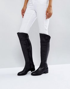 Read more about Dune london teigen knee high boots - black-leather