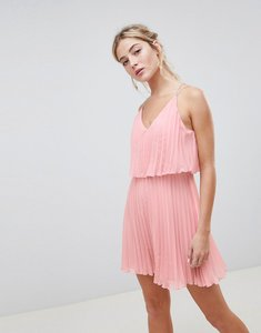 Read more about Asos design pleated crop top mini dress - dusty pink
