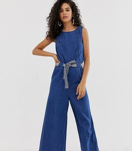 Read more about Only tall crop denim jumpsuit