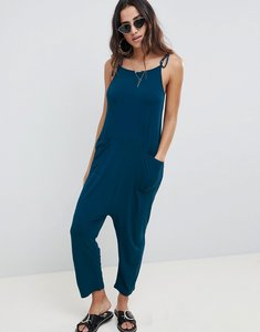 Read more about Asos design jersey minimal jumpsuit with ties - teal