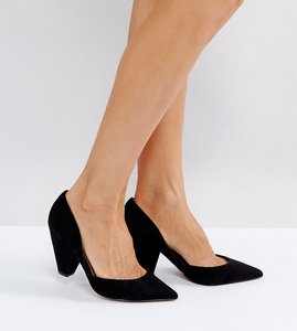 Read more about Asos sulphur wide fit pointed heels - black