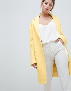Read more about Asos design crepe pocket detail coat - yellow