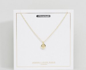 Read more about Johnny loves rosie gold plated zodiac cancer disc necklace - gold