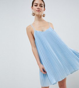 Read more about Missguided petite cami swing dress - light blue