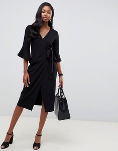 Read more about Asos design midi wrap dress with flutter sleeve