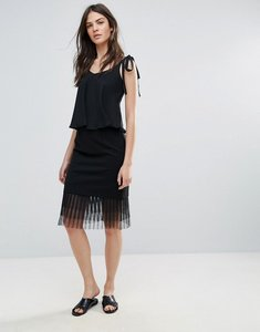 Read more about Amy lynn occasion netted mesh midi skirt - black