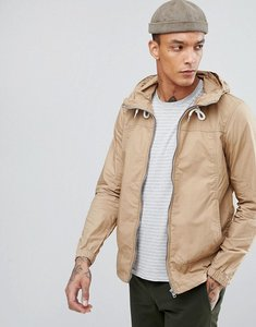 Read more about Pull bear lightweight hooded jacket in tan - tan
