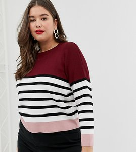 Read more about New look curve colour block jumper in red