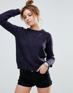 Read more about John jenn sofia ribbed texture jumper - 907 frozen berry