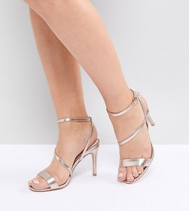 544e1038627 From Lost ink wide fit. NEW IN. Read more about Faith wide fit delly rose  gold heeled sandals - rose gold
