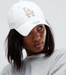 Read more about New era exclusive white cap with rose gold la - white and rose gold