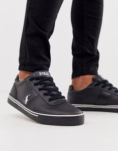 Read more about Polo ralph lauren hanford leather trainers in black