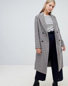 Read more about Helene berman double breasted hounstooth check coat in wool blend - check