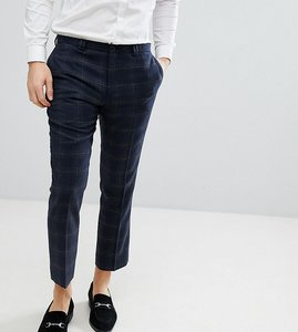 Read more about Noak slim wool mix cropped trouser - navy