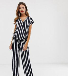 Read more about Mamalicious maternity stripe wrap jumpsuit