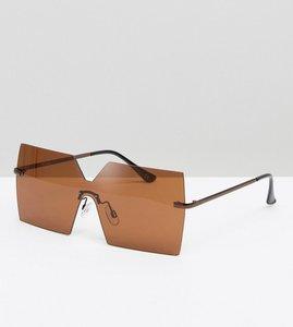 Read more about Asos square visor sunglasses - copper