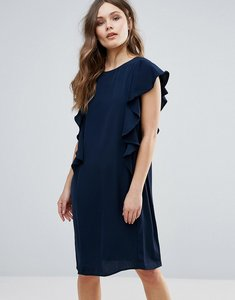 Read more about B young shift dress with ruffle side - copenhagen night