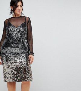 Read more about Coast plus gisella ombre sequin mesh dress - multi