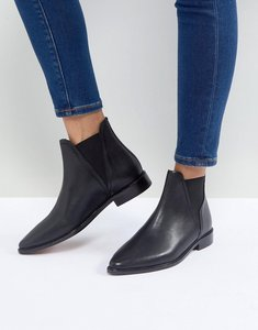 Read more about Hudson clemence black leather flat chelsea boots - black