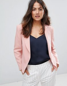 Read more about French connection rikki crepe blazer - rose tan