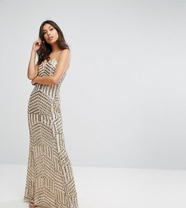 Read more about Tfnc bandeau sequin maxi dress - rose gold
