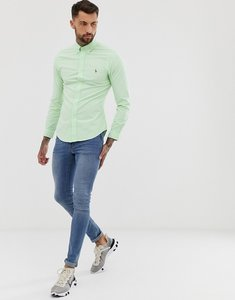 Read more about Polo ralph lauren slim fit oxford shirt with button down collar in light green