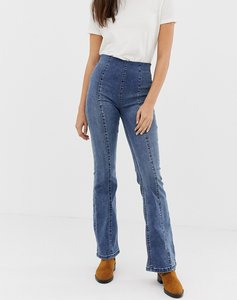 Read more about Free people slim kick flared jeans