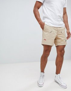 Read more about Polo ralph lauren nautical embroidery prepster drawstring chino shorts player logo in beige - coasta