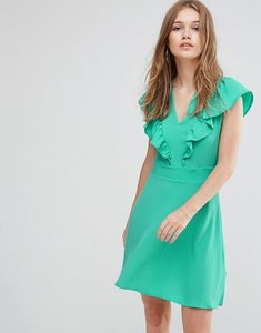 Read more about Liquorish frill front dress - mint green