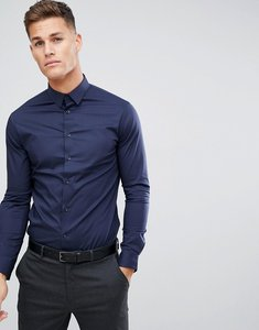 Read more about Celio smart shirt with stretch in navy - navy