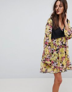 Read more about Free people alice vested print dress - black combo