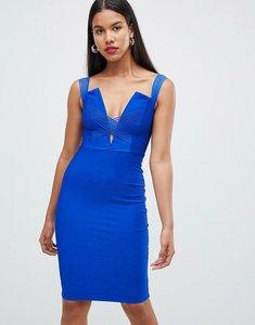 Read more about Rare london cross strap midi dress - cobalt