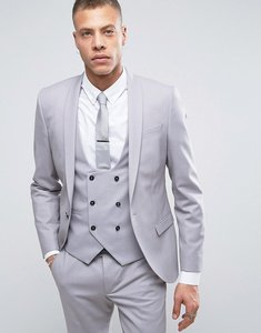 Read more about Noose monkey super skinny suit jacket - pale grey