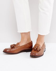 Read more about H by hudson fringe loafers - burnished tan