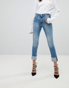 Read more about Replay easy stretch high rise slim leg jean - lightwash blue
