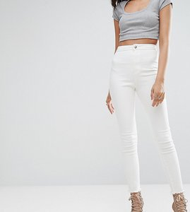 Read more about Missguided tall vice high waisted ankle grazer super stretch skinny jean - off white
