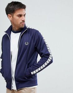 Read more about Fred perry sports authentic taped track jacket in navy - 266