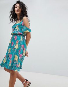 Read more about Floozie by frost french waterfall floral beach dress - blue