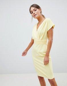 Read more about Paper dolls lemon pleat kimono dress - lemon