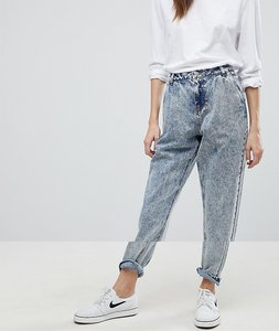 Read more about Noisy may acid wash mom jeans - light blue denim