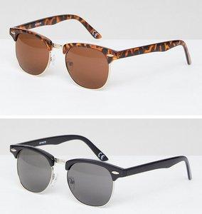 Read more about Asos 2 pack classic retro sunglasses - multi