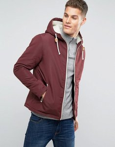 Read more about Brave soul hooded jacket with toggles - red