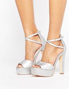 61c3fe1e220 Shop for Faith mirror platform sandals silver - flip-flops-and ...