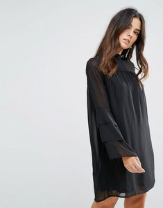 Read more about Brave soul sheer dress - black