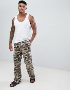 Read more about Asos design straight pyjama bottom in camo print - green