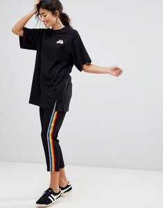 Read more about Monki rainbow side stripe joggers - black